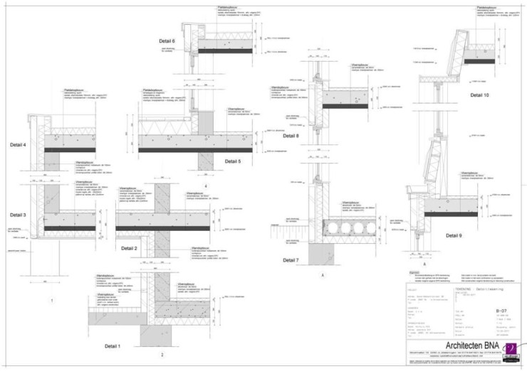 Detailtekening appartementen omgevingsvergunning