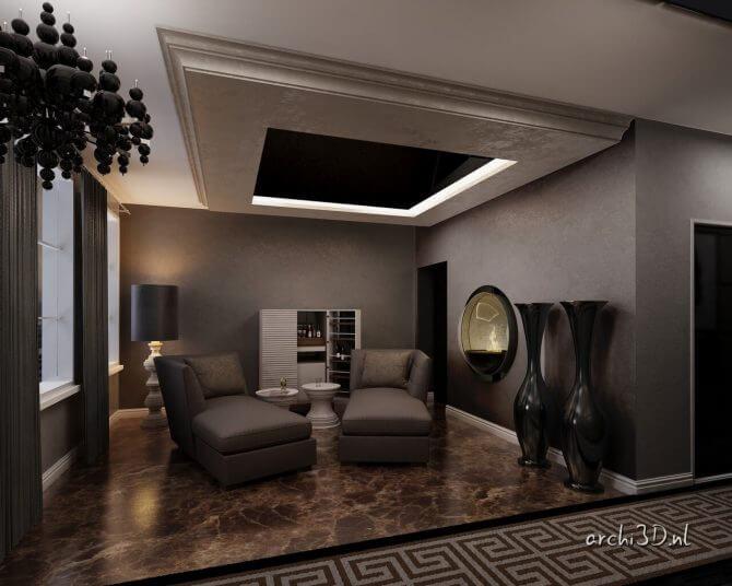 PR4488 lounge PR4488 badkamer 3D interieur prinsengracht