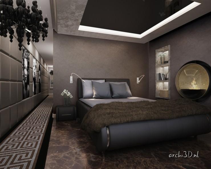 PR4488 slaapkamer PR4488 badkamer 3D interieur prinsengracht